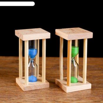 Часы песочные основание квадрат 1 минута, 8,5х4,2х4,2 см