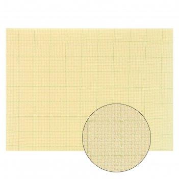 Канва для вышивания gamma  aida №14, 30х40 см , цвет кремовый  в клетку, х