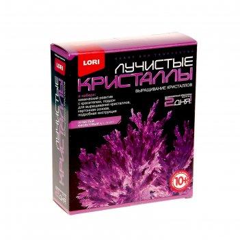 Набор для выращивания лучистых  кристаллов фиолетовый кристалл лк-007