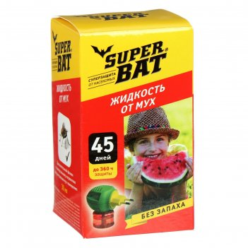 Жидкость от мух superbat , доп. флакон, 45 дней, 30 мл.