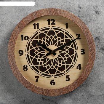 Часы настенные цветок, d=41 см, плавный ход