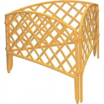 Забор декоративный сетка 24 x 320 см, желтый россия palisad
