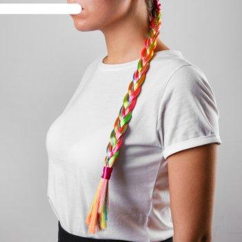 Коса радуга 42 см на резинке