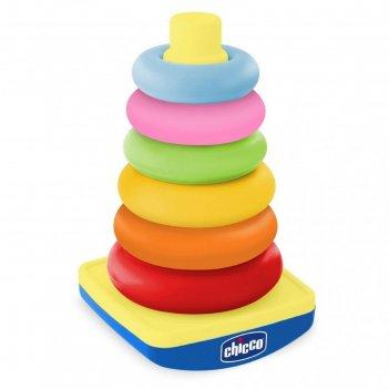 Пирамидка chicco «башня с колечками», от 9 месяцев