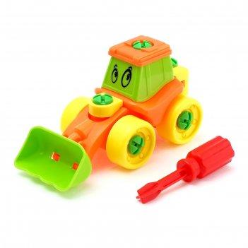 Конструктор для малышей «трактор», 21 деталь, цвета микс