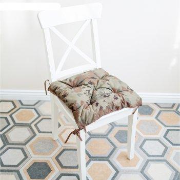 Подушка на стул, размер 45 x 45 см, милитари