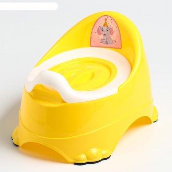 Горшок детский антискользящий «бэйби-комфорт» с крышкой, съёмная чаша, цве