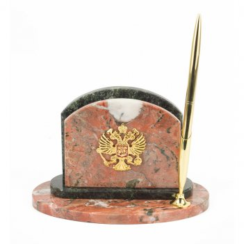 Мини-набор герб креноид змеевик 190х100х120 мм 1450 гр.