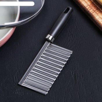Нож-слайсер для фигурной нарезки, пластик, нерж.сталь, 19х6см