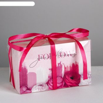 Коробка для капкейка follow your dreams, 16 x 8 x 10 см