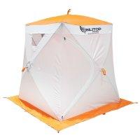Палатка призма 150 (1-сл) люкс композит, бело-оранжевая