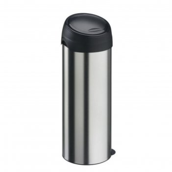 Мусорный бак meliconi, 40 л, цвет матовый стальной