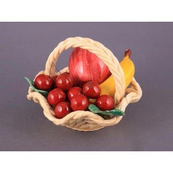 Изделие декоративное корзина с фруктами диаметр=18 см высота=13 см