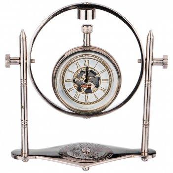 Часы кварцевые настольные 12*6*13 см циферблат 5см (кор=48шт.)