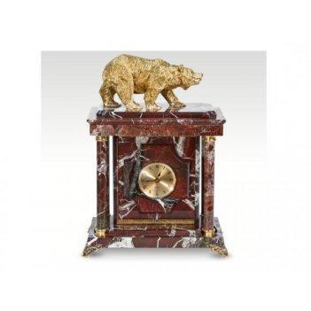Часы-сейф из яшмымедведь(арт.с-032)