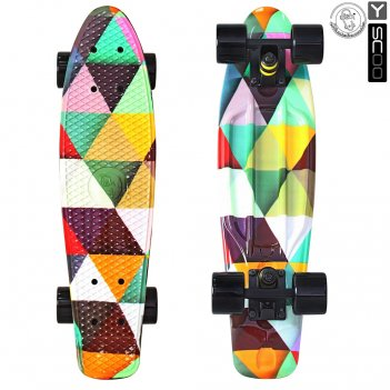 "401g-t скейтборд y-scoo fishskateboard print 22"" винил 56,6х15 с сумк"