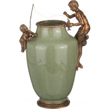 Декоративная ваза 24*17 см. высота=35 см. (кор=2шт.)