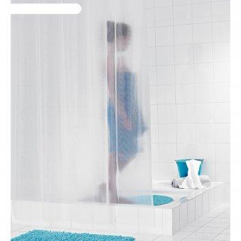 Штора для ванных комнат stripe, цвет полупрозрачный, 180x200 см