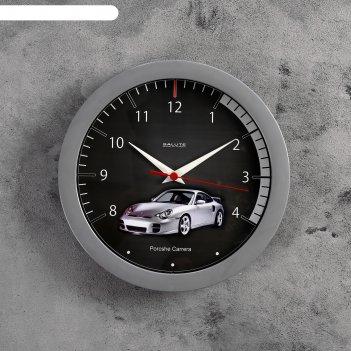 Часы настенные круглые машина, детские