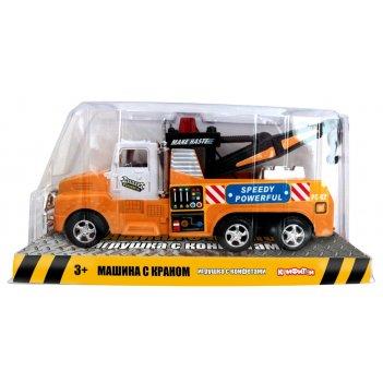 Машина с краном (фрикц. механизм) игрушка с конфетами 17 см, блок 24 шт. (