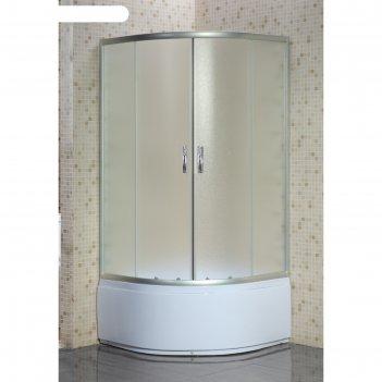 Душевое ограждение loranto cs-8010s, 80x80x195 см, стекло 4 мм, высокий по