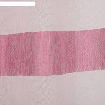 Тюль этель 290х280 винный рассвет (горизонтальная полоса) б/утяжелителя, 1