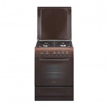 Плита газовая gefest 6100-03 0001, 4 конфорки, 52 л, газовая духовка, кори