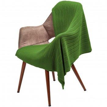 Плед field, размер 90x160 см, цвет зелёный (оливковый)