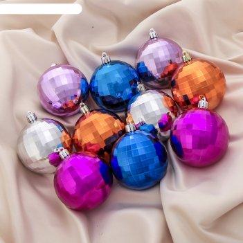 Новогодние шары рельеф (набор 50 шт.)
