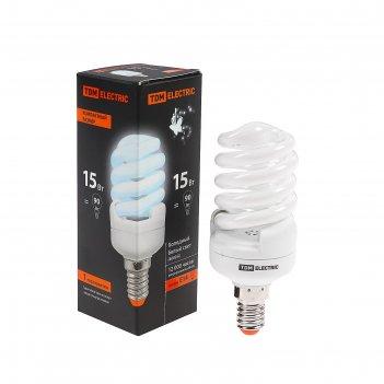 Лампа энергосберегающая tdm клл-fsт2 компакт, 15 вт, е14, 4000 к, 40 х 98