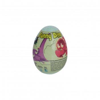 Шипучая бомбочка для ванны funny dino с растущим динозавром, 130 г