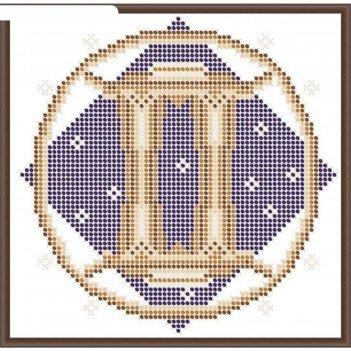 Основа для вышивания с нанесённым рисунком «близнецы»