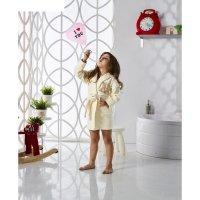 Халат детский с капюшоном snop, 2-3 года, цвет кремовый, махра/велюр
