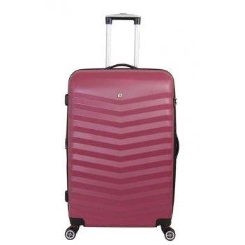 Чемодан wenger fribourg, красный, абс-пластик, 38x28x60 см, 64 л