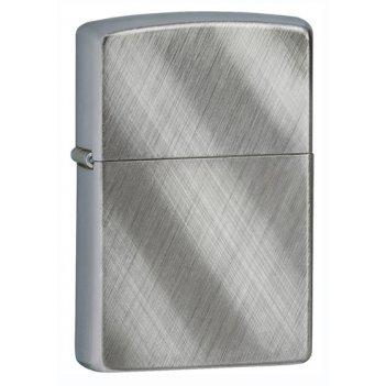 Зажигалка zippo diagonal weave, латунь с никеле-хромовым пок