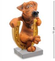 Rv-914 статуэтка собака подкова на счастье (w.stratford)