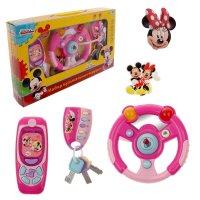 Набор музыкальных игрушек минни 3 предмета: руль, телефон, брелок, со свет