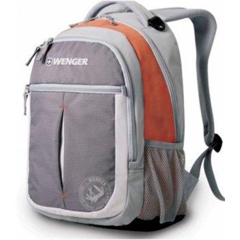 13854715 рюкзак wenger « montreux» цв. серый оранж.