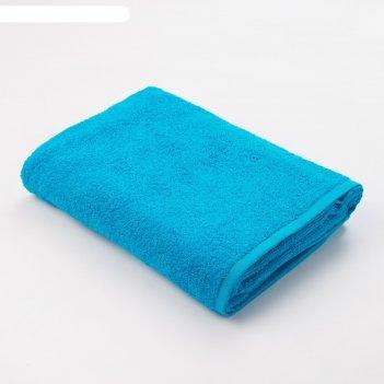 Полотенце махровое экономь и я 70*130 см голубой, 100% хлопок, 340 г/м2
