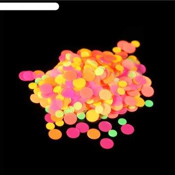 Камифубуки для декора ногтей, 1гр, цвет жёлтый/розовый/зелёный