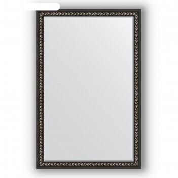Зеркало с фацетом в багетной раме - черный ардеко 81 мм, 115 х 175 см, evo
