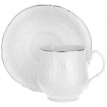 Чашка для чая 310 мл с блюдцем 160 мм bernadotte,  декор деколь,  отводка