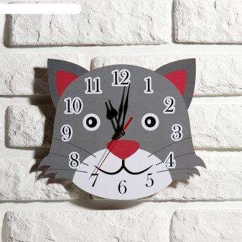 Часы настенные детские кот, 24 см