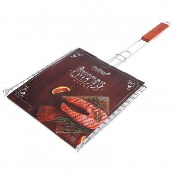 Шампуры grifon light плоские 45 см, 6 штук на блистере, никелированная ста