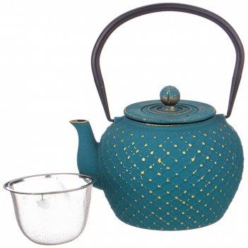Заварочный чайник чугунный с эмалированным покрытием внутри 1100 мл