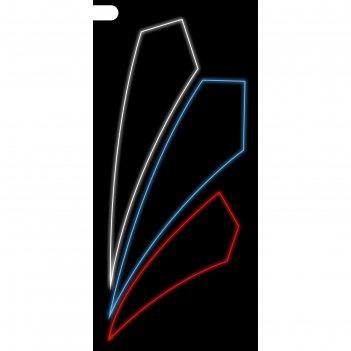 Светодиодная консоль триколор, 1 х 0.45 м, led-шнур 6 м, 15 вт, металличес