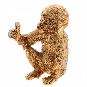 Фигурка декоративная обезьяна, l12 w12 h14,5 см