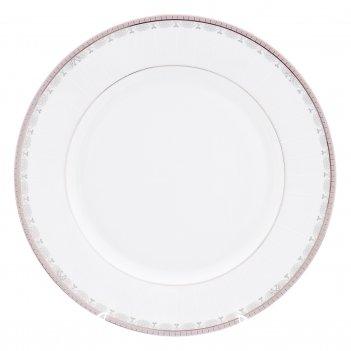Блюдо круглое 30 см опал платиновая лента
