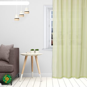 Тюль «этель» 140x300 см, цвет светло-зеленый, вуаль, 100% п/э