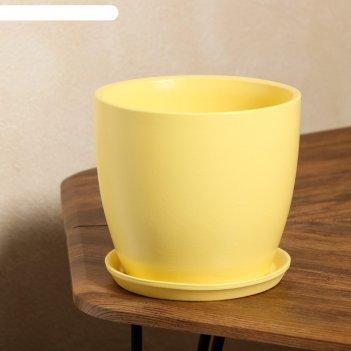 Кашпо осень 3,0 л глянец желтый лак